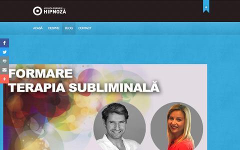 Screenshot of Blog asociatiaromanadehipnoza.ro - Articole Archives - Asociația Română de Hipnoză - captured July 26, 2016