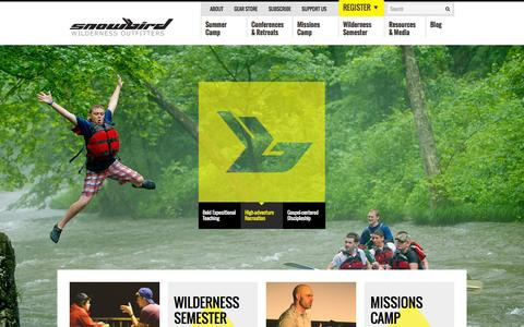Screenshot of Home Page swoutfitters.com - Snowbird Wilderness Outfitters - captured Oct. 7, 2014