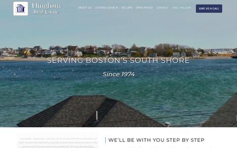 Screenshot of Home Page hinghamre.com - Hingham Real Estate Co   Hingham, MA - captured Dec. 15, 2018