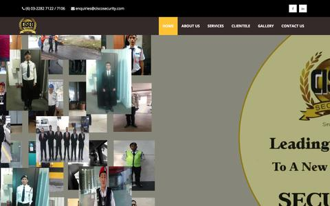 Screenshot of Home Page ciscosecurity.com - CISCO Security - captured July 31, 2017
