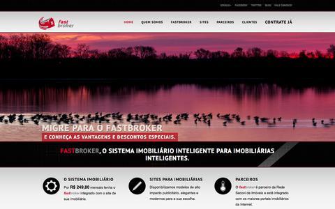 Screenshot of Home Page fastbroker.com.br - Sistema e site para imobiliária   fastbroker - captured Sept. 30, 2014