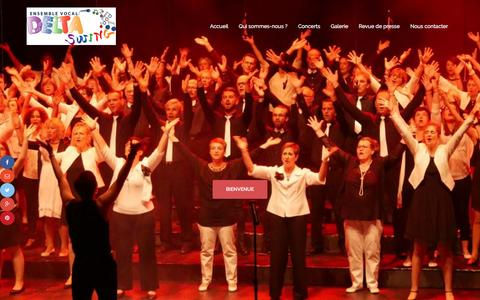 Screenshot of Home Page deltaswing.com - Ensemble vocal Delta Swing - captured March 22, 2017