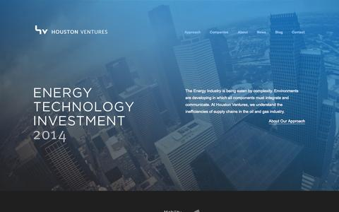 Screenshot of Home Page houven.com - Houston Ventures - captured Oct. 3, 2014