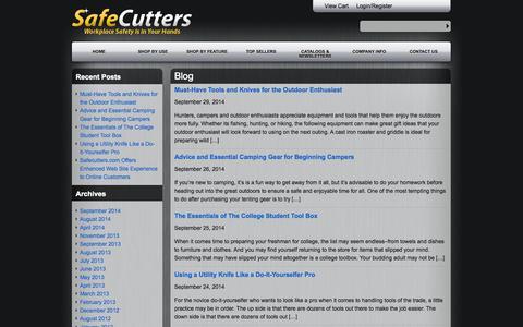 Screenshot of Blog safecutters.com - Blog - SafeCutters - captured Oct. 4, 2014