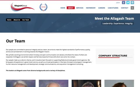 Screenshot of Team Page allagashgroup.com - Our Team » Allagash Group - captured Oct. 4, 2014