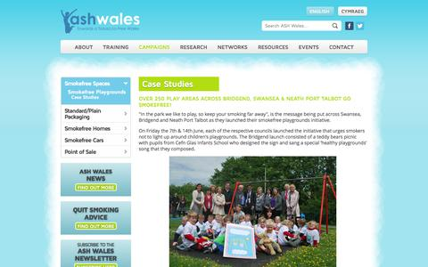 Screenshot of Case Studies Page ashwales.org.uk - Case Studies - captured Oct. 4, 2014