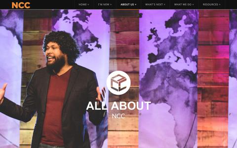 Screenshot of About Page newcommunity.co - About | New Community Church - captured Feb. 14, 2016