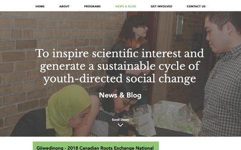 Screenshot of Blog scienceforlife.org - S.E.E.D.S. | Science for Life| Supporting Education, Empowerment, and  | NEWS & BLOG - captured Oct. 18, 2018