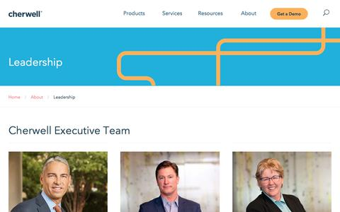 Screenshot of Team Page cherwell.com - Leadership - captured Sept. 19, 2018