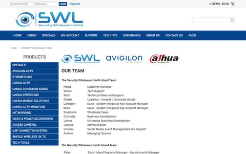 Screenshot of Team Page swl.co.nz - Security Wholesale Team - captured Oct. 1, 2018