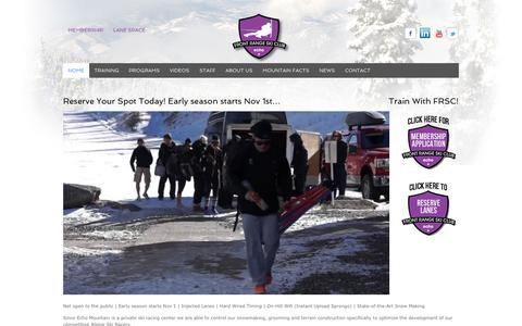 Screenshot of Home Page frontrangeskiclub.com - Front Range Ski Club - captured Sept. 30, 2014