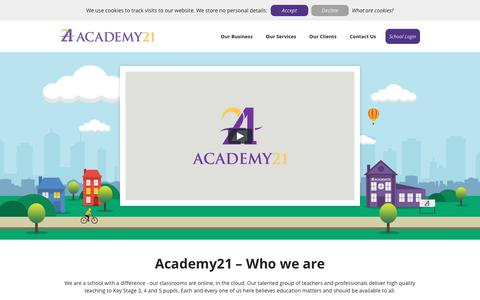 Screenshot of Home Page academy21.co.uk - Academy21 - Who we are - captured Oct. 7, 2017