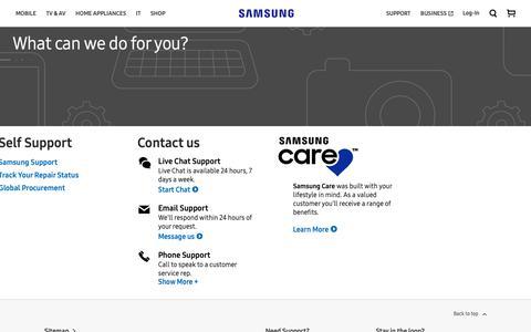 Screenshot of Contact Page samsung.com - Contact Us   Samsung Australia - captured Oct. 2, 2018