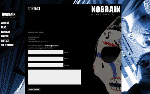 Screenshot of Contact Page nobrain.fr - Contact «  NOBRAIN - captured Oct. 7, 2014