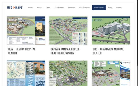 Screenshot of Case Studies Page medmaps.com - Case Studies - Med MapsMed Maps - captured June 10, 2017