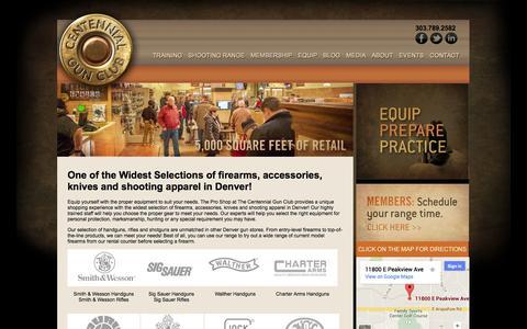Screenshot of Products Page centennialgunclub.com - Centennial Gun Club | Denver Gun Store | Firearms Denver | Guns Denver - captured Sept. 29, 2014