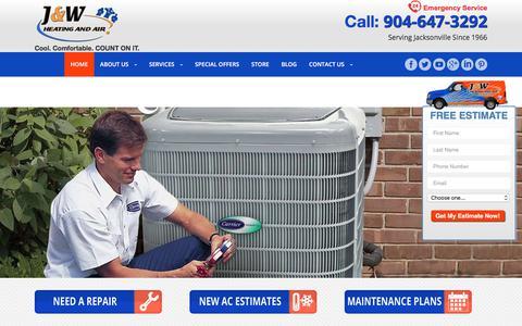 Screenshot of Home Page jandwheatingandair.com - Air Conditioning Installation & Repairs in Jacksonville, FLjandwheatingandair - captured Sept. 29, 2017