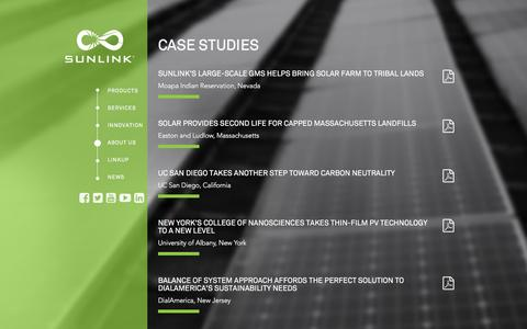 Screenshot of Case Studies Page sunlink.com - Case Studies - Sunlink - captured Feb. 16, 2016