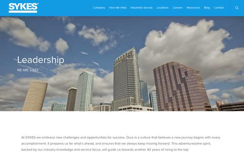 Screenshot of Team Page sykes.com - SYKES Leadership Team | Customer Relationship & Experience Management | SYKES - captured Jan. 5, 2018