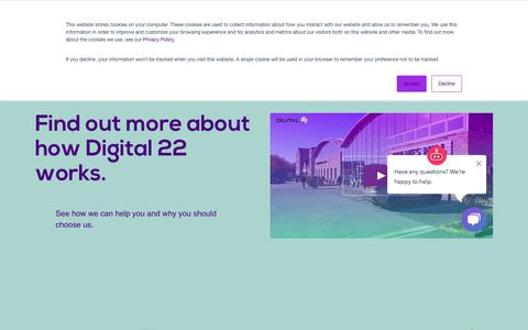 Screenshot of About Page digital22.com - Who Are Digital 22? See How We Work & Meet Our Team Here - captured June 25, 2019