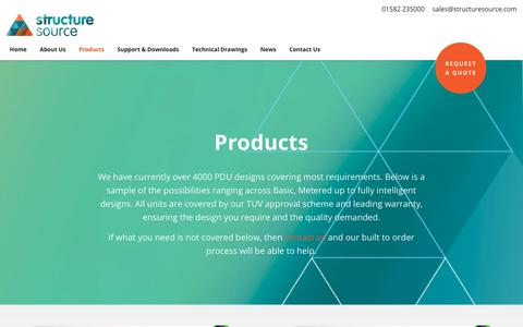 Screenshot of Products Page structuresource.com - Products Archives - Structure Source - captured Oct. 20, 2018
