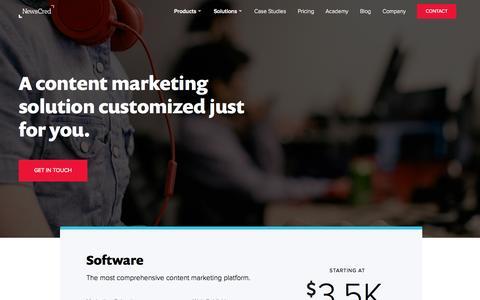 Screenshot of Pricing Page newscred.com - Pricing | Content Marketing Software | NewsCred - captured Nov. 5, 2015