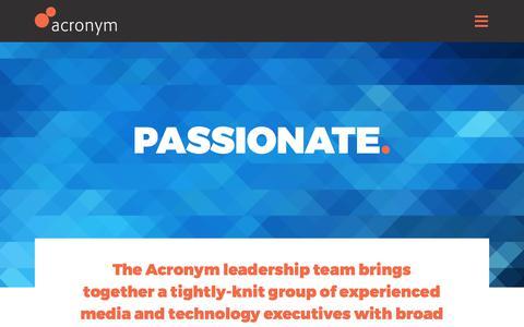 Screenshot of Team Page acronym.com - Team - Acronym - captured April 18, 2018