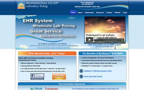 Screenshot of Home Page professionalco-op.com - Professional Co-op Services - captured Nov. 1, 2016