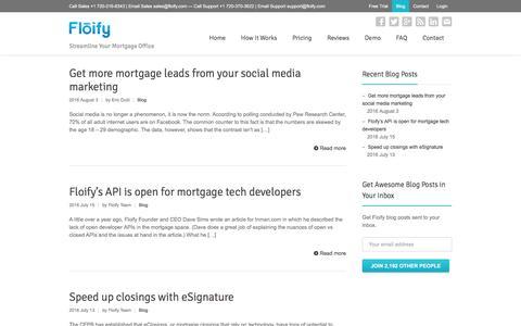 Screenshot of Blog floify.com - The Floify Blog | Floify - captured Aug. 4, 2016