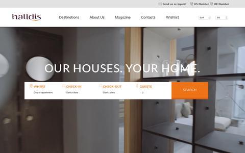 Screenshot of Home Page halldis.com - Halldis - Apartments for rent. Feel at home wherever you go - captured Sept. 26, 2018