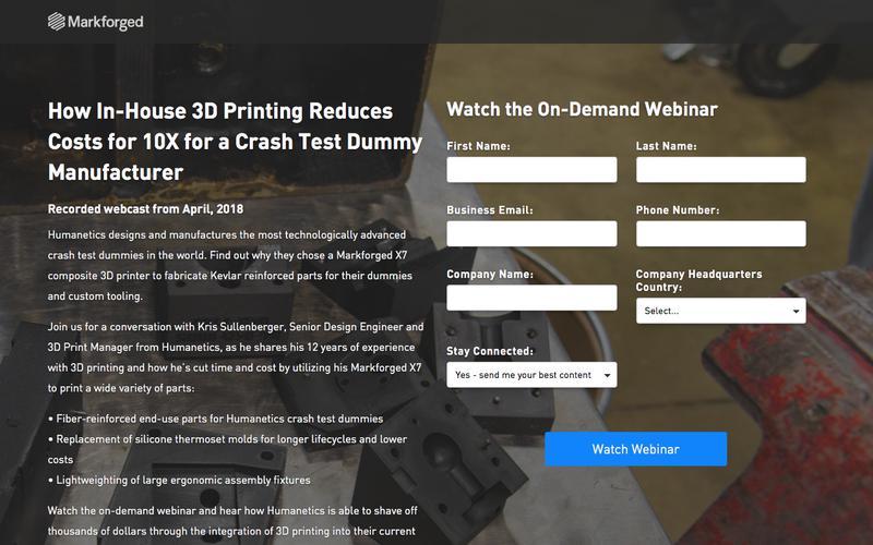 On-demand Markforged Webinar