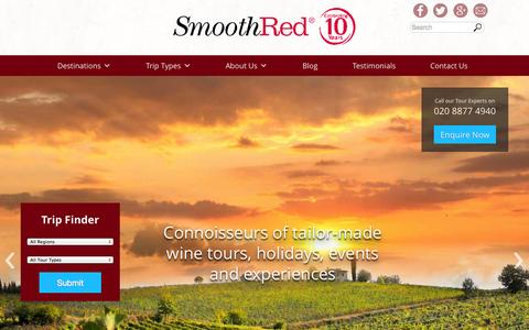 Screenshot of Home Page smoothred.co.uk - Home – SmoothRed - captured Feb. 6, 2015