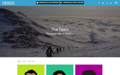 Screenshot of Team Page good.co - The Team | Good.Co - captured Dec. 16, 2014