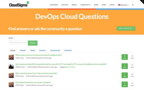 Screenshot of FAQ Page cloudsigma.com - DevOps Cloud Questions   CloudSigma - captured Nov. 4, 2017