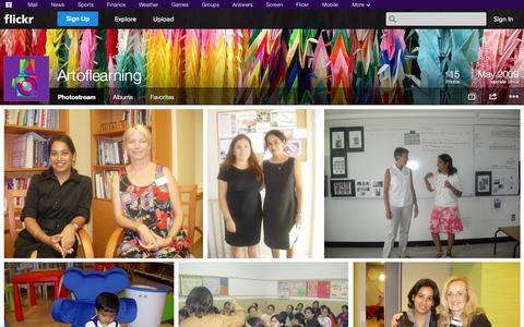 Screenshot of Flickr Page flickr.com - Flickr: Artoflearning's Photostream - captured Oct. 23, 2014