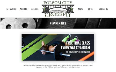 Screenshot of Trial Page folsomcitycrossfit.com - Folsom City CrossFit Gym | Folsom CA CrossFit Strength and Conditioning in 95630		 		Folsom City CrossFit Gym | Folsom CA CrossFit Strength and Conditioning in 95630 - captured Aug. 4, 2016