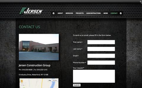 Screenshot of Contact Page jersen.com - Contact Us - Jersen Construction - captured Oct. 6, 2014