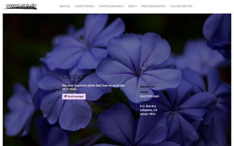Screenshot of Contact Page poemandart.com - Contact  | Poem and Art Studio - captured Oct. 2, 2014