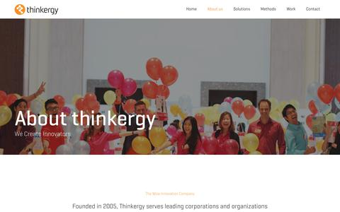 Screenshot of About Page thinkergy.com - About us | Thinkergy - captured Oct. 21, 2018