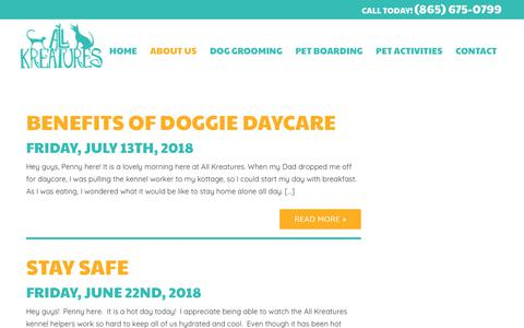 Screenshot of Press Page allkreatures.com - All Kreatures Pet Care | All Kreatures Pet Care - captured July 29, 2018