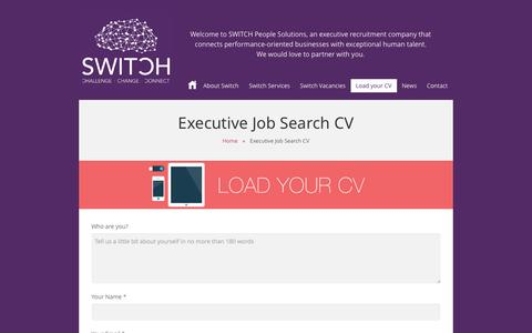Screenshot of Signup Page switchccc.com - Executive Job Search CV | Switch People Solutions - captured Nov. 5, 2014