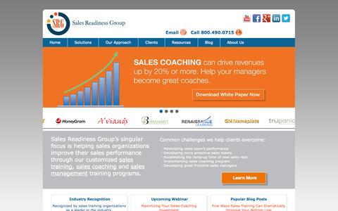 Screenshot of Home Page salesreadinessgroup.com - Sales Training & Sales Management Training | Sales Readiness Group (SRG) - captured Sept. 19, 2014