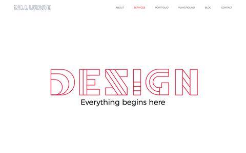 Screenshot of Services Page rillusion.com - Services - Rillusion : Branding & UX / UI Design Agency - captured Sept. 23, 2018
