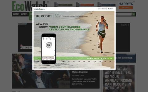 Screenshot of Press Page ecowatch.com - News Archives » EcoWatch - captured Dec. 7, 2015
