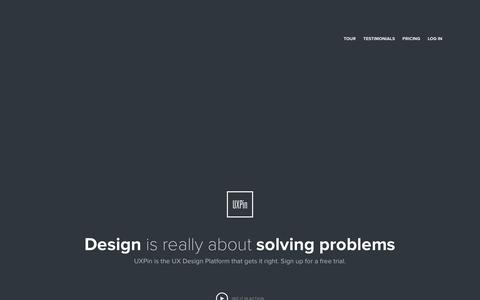 Screenshot of Home Page uxpin.com - UXPin: UX Design & Wireframing Tools As Beautiful As Your Work - captured Sept. 17, 2014