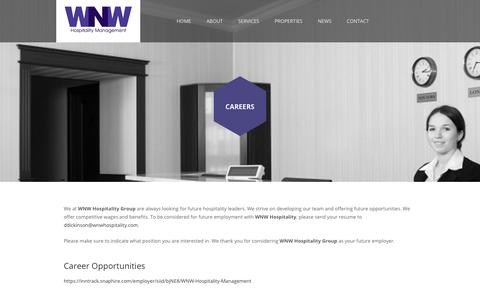 Screenshot of Jobs Page wnwmanagement.com - Careers  ::  WNW Management - captured Nov. 16, 2018