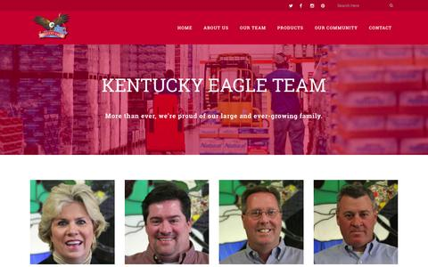 Screenshot of Team Page kyeagle.net - OUR TEAM - KENTUCKY EAGLE, INC. - captured Feb. 12, 2016
