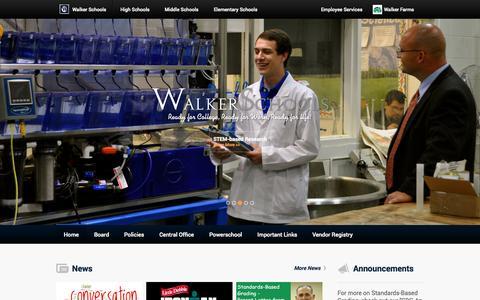Screenshot of Home Page walkerschools.org - Walker County Schools - captured Sept. 19, 2014