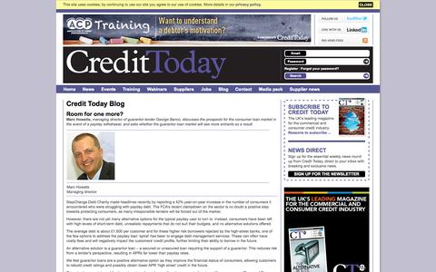 Screenshot of Blog credittoday.co.uk - Credit Today Blog - captured Sept. 22, 2014