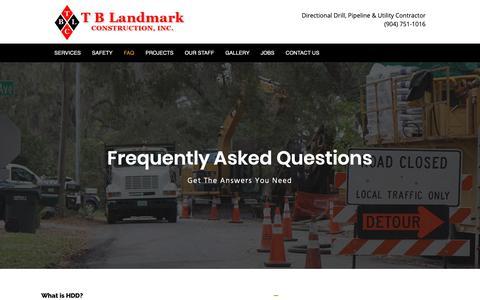 Screenshot of FAQ Page tblandmark.com - FAQ – T B Landmark - captured Oct. 19, 2018